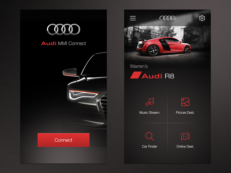 Audi Mmi Connect App Ui By Warren Lebovics Dribbble
