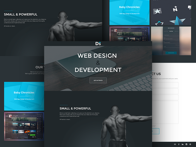 Dropset Studios Landing Page wlebovics web ui ux landing site design development dark muscle strong