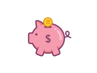 LinkedIn Piggy Bank Sticker