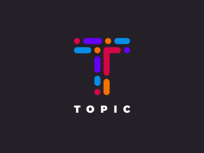 Topic Logo movement flow network connect brand mark t topic logo wlebovics