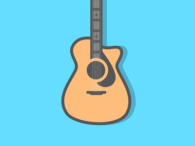 Acoustic Guitar - Album Art cover album strings music identity mark branding logo acoustic guitar icon illustration wlebovics