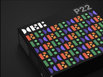 Heli Packaging contrast packaging mockup branding