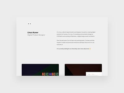 Portfolio 2018 cards website interface internship portfolio