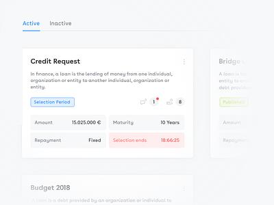 Finance dashboard website wip blue dashboard cards