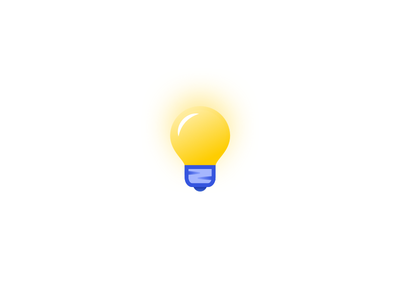 Light bulb light icon illustration lightbulb