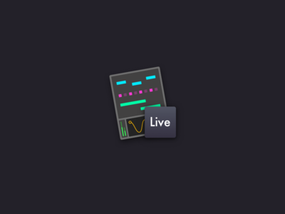 Ableton Live icon daw vector cards illustration icon mac app mac ableton logo