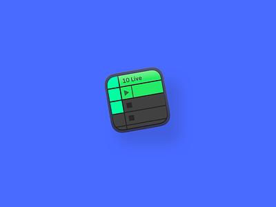Ableton Live Icon V3 iconography mac music app ui music app ableton vector logo blue branding icon illustration cards