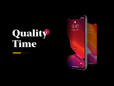 Quality Time – Interface concept ui wellbeing digital iphone concept interface ios13 ios