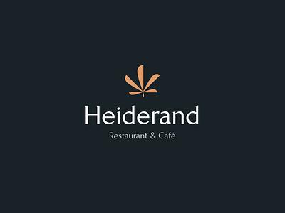 Heiderand Branding vector illustration floral typography elegant plant chestnut wordmark branding restaurant branding cafe restaurant logo