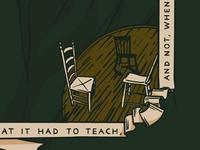 Thoreau WIP detail, 3 chairs