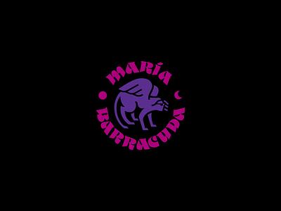 Maria Barracuda Logo imagotype logodesign logotype pop rock typography logo branding design