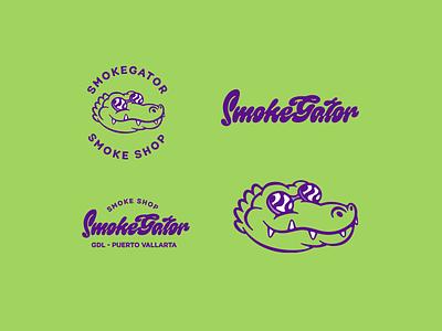 Smokegator 2 branding design lettering letters typography logos logodesign logotype logo smokeshop