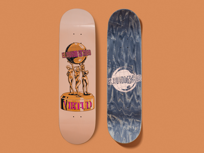 El mundo es tuyo (Skateboard) scarface skateboard deck skate skateboarding design illustration
