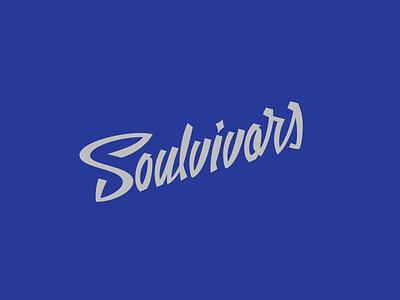 Soulvivors Logo typography branding design logotype logo lettering script letters blues