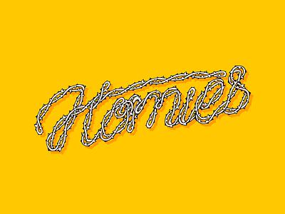 Homies Letters illustrator brush lettering letters thorns thorn