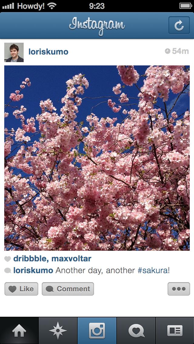 Instagram gui sketch