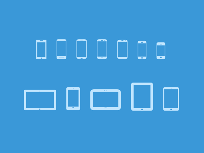 Mobile Devices Icons V3 [PSD + EPS + sketch]
