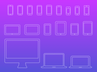 Mobile Devices Icons V4 [Sketch + SVG]