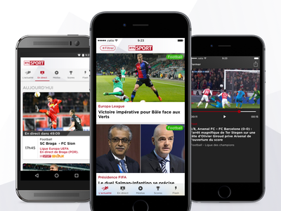 RTS Sport - iOS and Android App ui ux iphone news sports mobile app android ios
