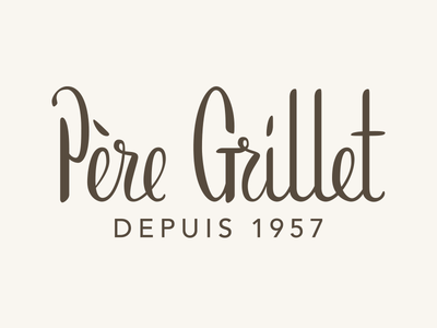 Père Grillet hand lettering logo brush logo hand lettering lettering
