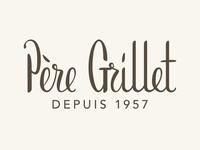 Père Grillet hand lettering logo