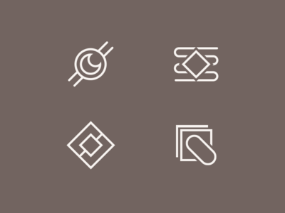 Website Icons line abstract icons