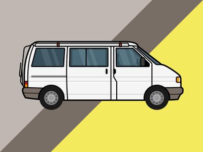 Stan The Van – illustration vector california t4 vw vanlife camper van