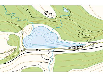 Topographical map - mapmaking identity branding illustration map making mapmaking maps map