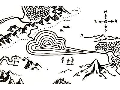 Fantasy Map - mapmaking identity ink hand-drawn fantasy illustration mapmaking maps map
