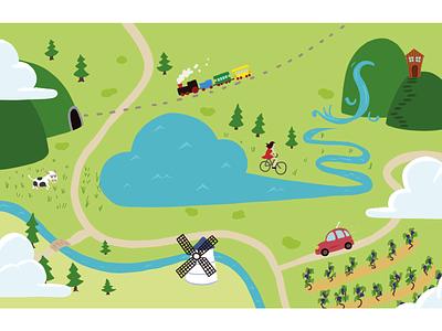 Naive Map - mapmaking identity procreate colorful colourful illustration mapmaking maps map