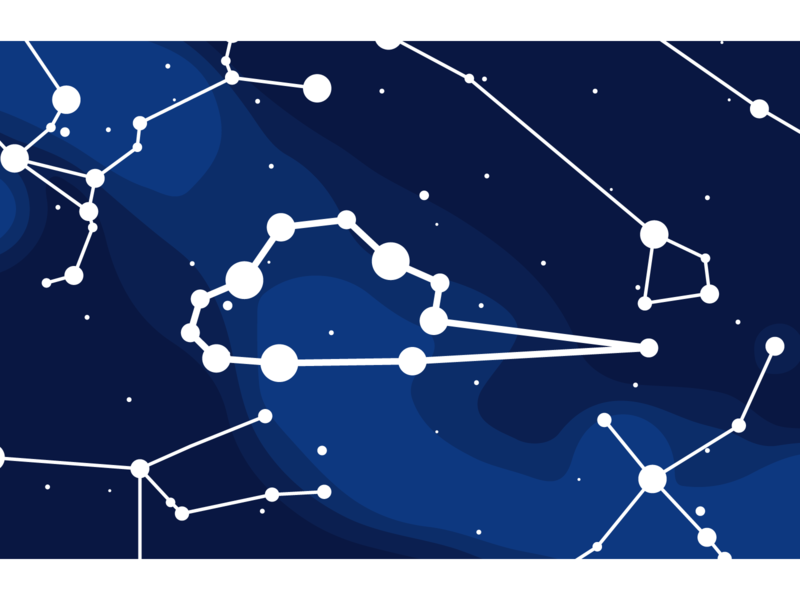Star Map - mapmaking identity star map constellations milky way branding cartography vector map illustration logo