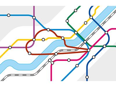 Transit map - mapmaking identity colours metro identity branding transit map vector mapmaking map
