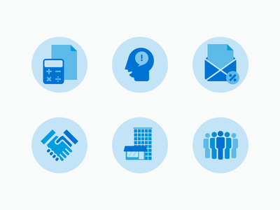 Service icons for a financial-consulting firm ui vector colour scheme logo service icons icons