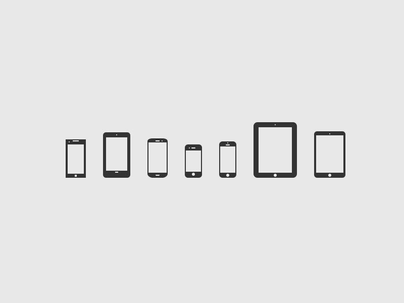 Mobile Devices Icons V 2.0 [PSD] ipad iphone 5 iphone 4 samsung galaxy siii nexus 7 freebie ressource nokia lumia ipad mini minimal icon tablet smartphone mobile device vector psd