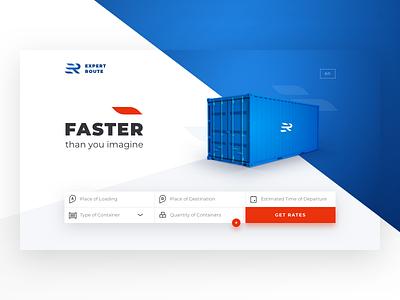 UI concept: logistic company's rates calculator delivery rates rates calculation cargo ui concept web landing flat