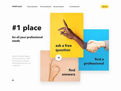 Color blocks website concept interface ui clean ui principle animation homepage colorblock colors flat website web