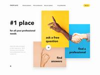 Color blocks website concept