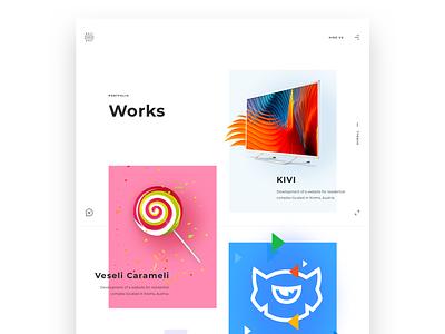 Portfolio page UI for our brand new website web interface works page illustration company website graphic design website studio portfolio