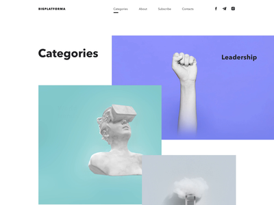 Blog's categories section animation blog typography clean minimal landing vector website flat interface web animated animation ux ui