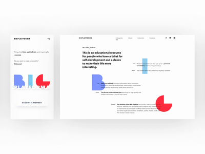 Responsive design animation website vector typography minimal landing clean blog animated flat interface web animation ux ui