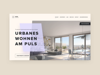 Real estate website concept animation design web page interface home website flat concept real estate animation gif ux ui