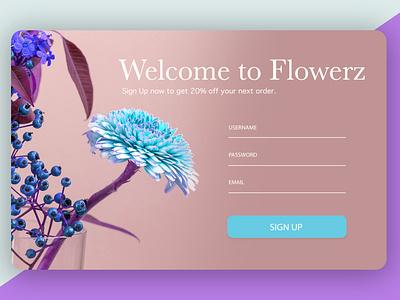 DailyUI 001 ui design signup page dailyui001 dailyui