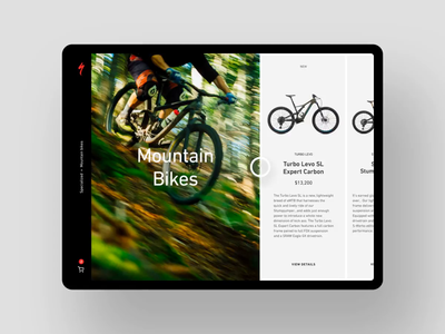 Product list to detail transition exploration mountain biking mountain bike bikes specialized product detail page product detail product list after effects ui animation ui