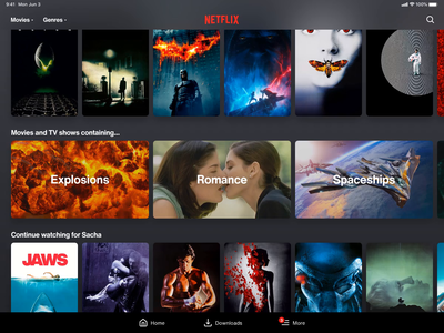 Netflix theme concept tv shows movies themes after effects ui ui animation netflix