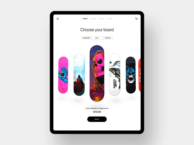 Skateboard configurator ripper powell peralta ripper deck skate video copilot element 3d after effects ui animation ui customizer configurator skateboard