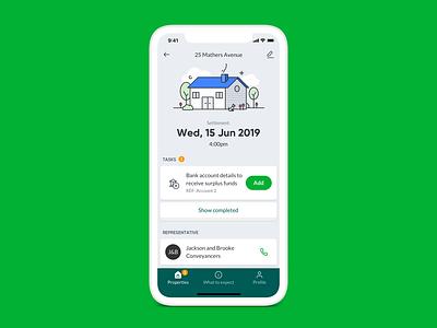 Home settlement app UI animation ui animation settlement app animation home