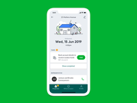 Home settlement app UI animation