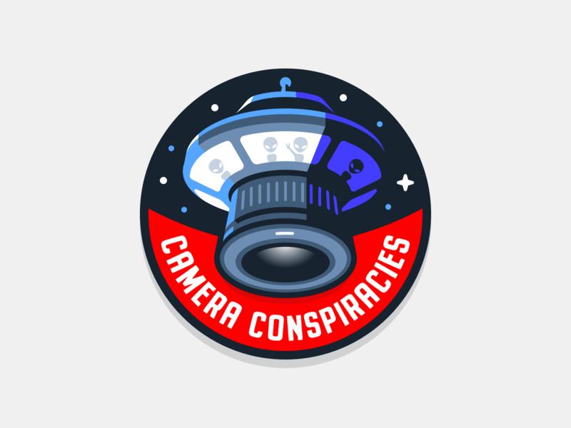 Camera conspiracies logo concept 2.0 panasonic lumix camera icon conspiracy ufo alien camera
