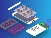 Isometric 3-D Phone Design