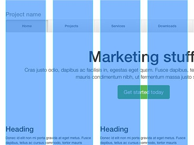 Proper Bootstrap Grid PSD bootstrap psd template grids responsive